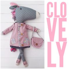 Sewing Toys Clovelly Horse and Clothes PDF Sewing Pattern Pdf Sewing Patterns, Free Sewing, Bear Patterns, Doll Patterns, Crochet Hook Set, Crochet Toys, Sewing Toys, Sewing Crafts, Softies