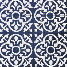 Stunning ink blue Fleur-de-lis pattern. An absolute favourite! Handmade in Morocco #handmadeinmorocco #encaustictiles #encaustictilesnz #cementtiles #nzcementtiles