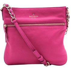 Pre-owned Kate Spade Auth Leather Pxru2233 - 32609 Shoulder Bag ($305) ❤ liked on Polyvore featuring bags, handbags, shoulder bags, pink, distressed leather handbag, kate spade shoulder bag, leather shoulder handbags, distressed leather shoulder bag and pink purse