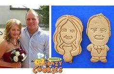 Wedding Ideas - Edible Wedding Favor - Custom Cookies - Tuxedo & Wedding Dress
