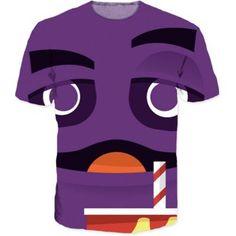 Purple Creature Cartoon Style Vibrant Color Urban Wear T-Shirt  #Purple #Creature #Cartoon #Style #Vibrant #Color #Urban #Wear #T-Shirt