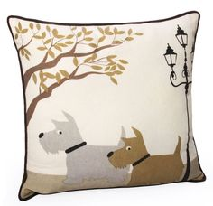 "Features:  Product Type: -Throw pillow.  Color: -Beige.  Style: -Traditional.  Size: -17"" Square.  Shape: -Square.  Cover Material: -100% Cotton.  Fill Material: -Polyester/Polyfill.  Theme: -Wildlife"
