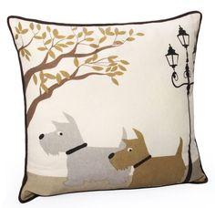 Scottie Dog Cotton Pillow