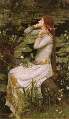 John William Waterhouse: Ofelia, óleo sobre lienzo, tamaño: 49 x 29 en 1894.. https://modayperfume.files.wordpress.com/2015/04/ophelia_1894.jpg