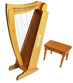 15 String Harp with Bench for Ages 6 and Up by Schoenhut