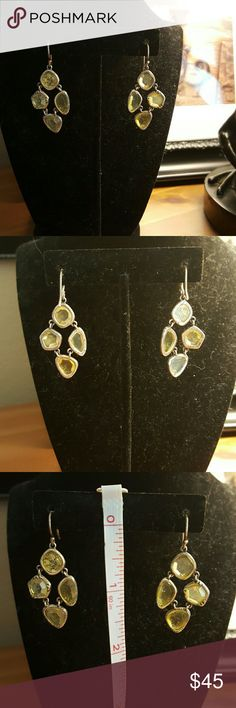Silpada Citrine Earrings Silpada Fresh Squeezed Citrine Earrings. Sterling Silver EUC. Silpada Jewelry Earrings