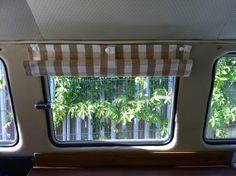 camper poppered blinds | Delilah's VW Camper Furnishings