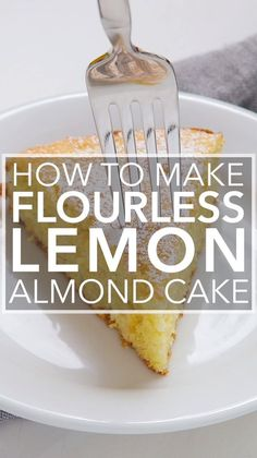 Lemon Almond Cake Here's a light and airy gluten-free lemon cake make with almond flour, eggs, and sugar. Perfect for a holiday dessert!Here's a light and airy gluten-free lemon cake make with almond flour, eggs, and sugar. Perfect for a holiday dessert! Gluten Free Lemon Cake, Gluten Free Sweets, Gluten Free Cakes, Gluten Free Baking, Paleo Lemon Cake, Sugar Free Lemon Cake, Egg Free Cakes, Gluten Free Biscuits, Gluten Free Muffins