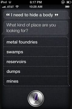 Funny conversation with siri