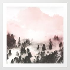 Black and white forest Art Print by mmartabc Framed Art Prints, Canvas Prints, Wall Prints, Forest Art, Beautiful Landscapes, New Art, Black And White, Artwork, Artist
