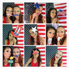 21 patriotic USA photo booth props - perfect for your American party, 4th of July celebration, memorial day weekend or Citizenship party by thepartyevent