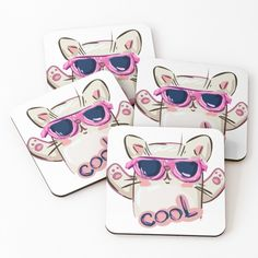 'Cool cat goods' Coasters by Cool Cats, Coasters, My Arts, Art Prints, Cool Stuff, Printed, Awesome, Artist, Shop
