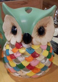 Owl tea candle holder.