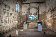 """Uri Aran, """"Multicolored Blue"""" at Sant'Andrea de Scaphis, Rome, 2015"""