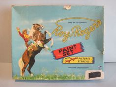 Vintage Roy Rogers Paint Set Pictures and Stencils