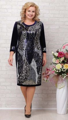 Полная модница Mature Women Fashion, Iranian Women Fashion, Womens Fashion, Plus Size Retro Dresses, Plus Size Outfits, Royal Blue Lace Dress, African Dresses For Women, Women's Fashion Dresses, Plus Size Fashion