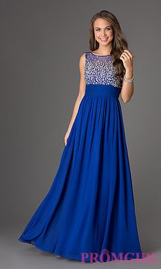Royal Blue Long Evening Wedding Par | Long prom dresses, Holiday ...