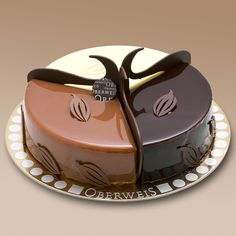 How I wish was in English!!   Présentation originale du dessert 3 chocolats (Chocolate Mix)