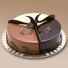 Présentation originale du dessert 3 chocolats