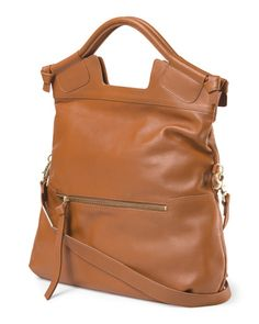 Leather Mid City Bag - Handbags - T.J.Maxx