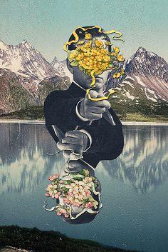 Modern Vintage Collage by Eugenia Loli Art Du Collage, Surreal Collage, Collage Artists, Collages, Art Pop, Art And Illustration, Psychedelic Art, Arte Bipolar, Vintage Collage