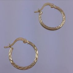 Check out this item in my Etsy shop https://www.etsy.com/listing/263401348/10k-yellow-gold-hoop-earrings-gold