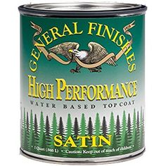 General Finishes QTHF High Performance Water Based Topcoat, 1 Quart, Flat - Water Based Household Varnishes - Amazon.com