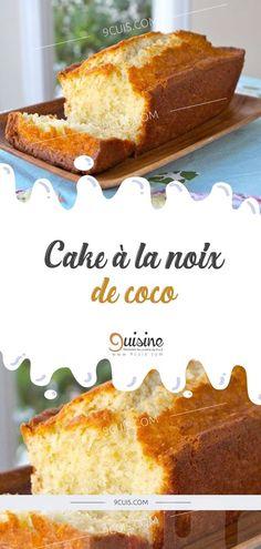 Cake à la noix de coco Desserts With Biscuits, Köstliche Desserts, My Recipes, Cake Recipes, Dessert Recipes, Mauritian Food, Gateau Cake, Weird Food, No Sugar Foods