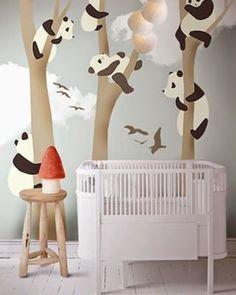 Que tal adesivar o quarto do seu bebê com uma arte linda de ursinhos panda? Sua criatividade não precisa ter limites, o adesivo de parede…