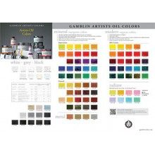 Gamblin Artist Oil Paint Chart With Images Paint Color Chart Color Chart Sketch Book