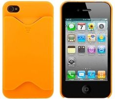 Clearance sale ! iPhone 4 ID Card  Holder Case (Orange) NOW $3.95 ! reg 9.95