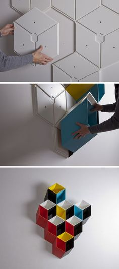 Modular floating #bookcase IMEUBLE by By Corporation | #design Bjørn Jørund Blikstad #furniture_design