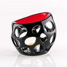 Cut Out Oil Burner - Black & Red