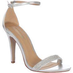 Jane Norman Metallic Skinny Heel Sandals found on Polyvore
