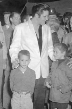 Tupelo Fairgrounds, Tupelo, with fans backstage 1956 sep 26