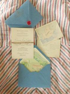 Invitation for Provence France wedding by Shindig Bespoke