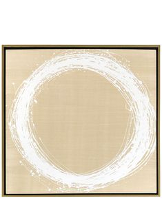 """Circle in Motion"" by Kayce Hughes Beige White Painting"