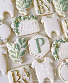 """Leah Malvarose on Instagram: """"Baby shower cookies all day everyday would be fine by me 🖤 • • • #decoratedcookies #customcookies #cookiesofinstagram #sugarsbyleah…"""" No Bake Sugar Cookies, Baby Cookies, Baby Shower Cookies, Iced Cookies, Cut Out Cookies, Royal Icing Cookies, Earth Baby, A Little Party, Beautiful Desserts"""