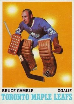Bruce Gamble. Probably the first Leafs goalie I ever saw play - on TV when I was very young.