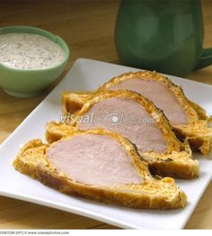 ROASTED PEAMEAL BACON DIJON in PUFF PASTRY CRUST (chef Michael Olson) Peameal Bacon, Beer Magazine, Roasts, Food Truck, Breakfast Recipes, Food And Drink, Cooking Recipes, App, Baking