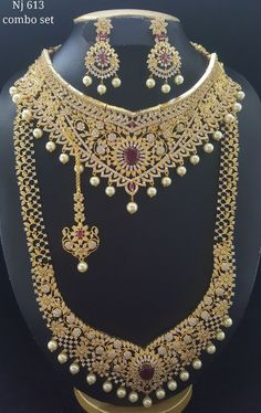 Bridal Jewelry Rental Whatsapp 9894424770 Cz Jewellery, Gold Jewellery Design, Diamond Jewelry, Gold Jewelry, Jewelry Necklaces, Indian Designer Wear, Bridal Jewelry, Jewelry Collection, Jewelry Sets