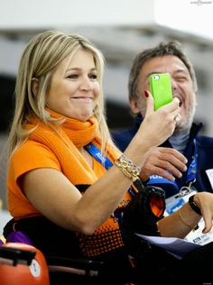 Queen Maxima at Sotchi - she certainly knows how to share happiness.