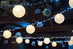 Lanterns & Paper pom poms