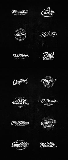 Lettering Logo Design by Dalibor Momčilović Handmade Lettering for Logos. Dalibor Momčilović is the name of this creative designer who developed these stunning handmade lettering logo designs. Design Logo, Typography Design, Branding Design, Typo Logo, Logo Branding, Dj Logo, Creative Logo, Typography Inspiration, Graphic Design Inspiration