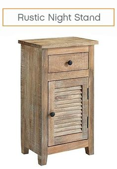 Complete your rustic bedroom retreat with a side table that's both beautiful and functional. With a distressed mango wood finish and a door that opens to shelves and a generous drawer, you can not only add style to your room, but also ample storage.