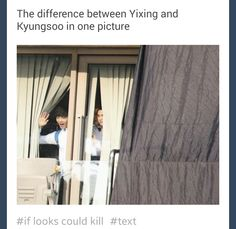 lol Awww cute little Yixing and then there's Kyungsoo just kinda... being.. scary HAHAHAHA