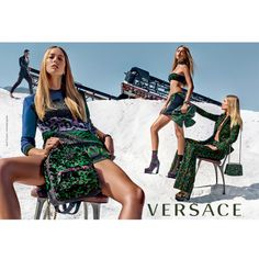 Raquel Zimmerman, Gigi Hadid and Natasha Poly for Versace Spring 2016