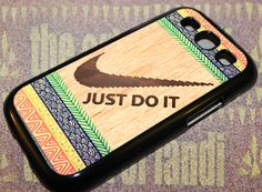 Aztec Wood Nike Just do it - For Samsung Galaxy S3 Black Case Cover