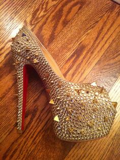 Christian Louboutin Anniversary Collection Gold Stud Platforms - O.M.F.G!