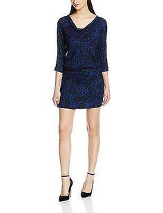 12, Blue - Bleu (Blue), 2TWO Women's Herika 3/4 Sleeve Dress NEW